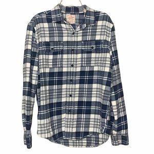 American Eagle Flannel Shirt Blue Plaid Men's Sz M